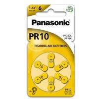 Hörapparatsbatteri Zinc Air 10 (PR70) 1,4V Panasonic 6-pack