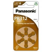 Hörapparatsbatteri Zinc Air 312 (PR41) 1,4V Panasonic 6-pack