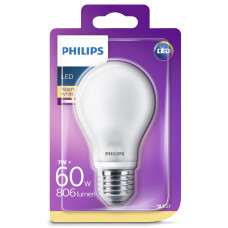 LED-lampa Frost Normal E27 7W (60W) Philips