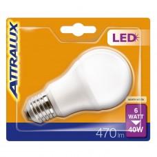 LED-lampa Frost Normal E27 6W (40W) Attralux