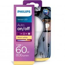 LED-lampa Frost Normal Sensor E27 7,5W (60W) Philips