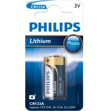 Batteri Special Lithium CR123A (CR17345) 3V Philips
