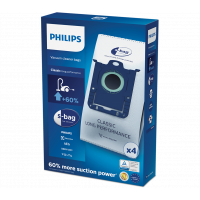 Dammsugarpåsar S-Bag Philips Original FC8021/03 Classic Long Performance 4-pack