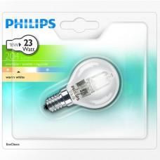 Halogenlampa 230V E14 Klot 18W (23W) Philips