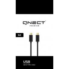 USB-Kabel USB-C till USB-C Qnect Premium 101010 1m Black