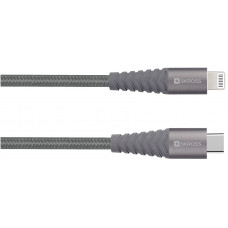 USB-kabel USB-C till Lightning SKross 2.700272 3A 1m Space Grey