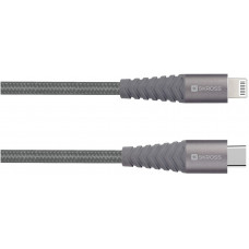 USB-kabel USB-C till Lightning SKross 2.700273 3A 2m Space Grey