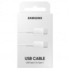 USB-Kabel USB-C till USB-C Samsung EP-DA705BWEGWW 3A 1m White