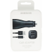 Car Charger + Data Cable Samsung EP-LN920 Adaptive Fast Charge Dual 2A MicroUSB 1,5m Black