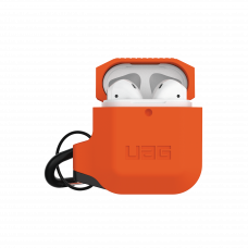 Airpodsskal UAG Apple Airpods Silicone Case, Orange/Grey