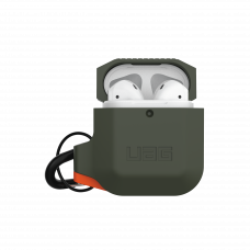 Airpodsskal UAG Apple Airpods Silicone Case, Olive Drab/Orange