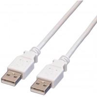 Value USB 2.0 Cable, A - A, M/M, white, 3m
