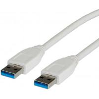 Value USB 3.2 Gen 1 Cable, A - A, M/M, white, 3m