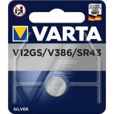 Batteri Silveroxid 386 SR43 (SR1142) 1,55V Varta V12GS