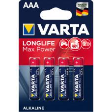 Batteri Alkaliskt AAA (LR03) 1,5V Varta Max Power 4-pack
