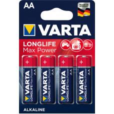 Batteri Alkaliskt AA (LR06) 1,5V Varta Max Power 4-pack