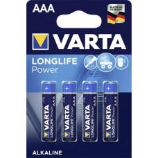 Batteri Alkaliskt AAA (LR03) 1,5V Varta Power 4-pack