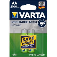 Laddningsbara batterier AA (HR06) 1,2V 2100mAh Varta Power 2-pack