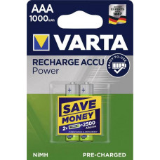 Laddningsbara batterier AAA (HR03) 1,2V 1000mAh Varta Power 2-pack