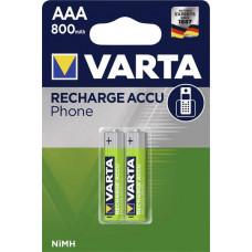 Laddningsbara batterier AAA (HR03) 1,2V 800mAh Varta Phone 2-pack