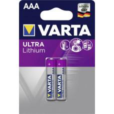 Batteri Litium AAA (FR03) 1,5V Varta Ultra 2-pack