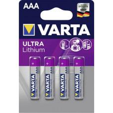 Batteri Litium AAA (FR03) 1,5V Varta Ultra 4-pack