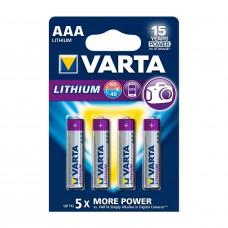 Batteri Standard Lithium AAA (FR03) 1,5V Varta 4-pack