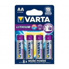 Batteri Standard Lithium AA (FR6) 1,5V Varta 4-pack