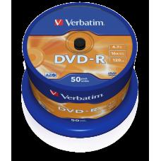DVD-skiva Verbatim DVD-R 4,7GB 16x 50-pack Spindle 43548