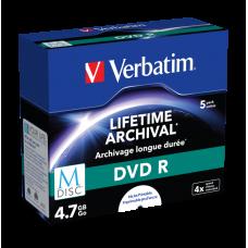 DVD-skiva Verbatim MDISC DVD R 4,7GB 4x 5-pack Jewel Case Inkjet 43821