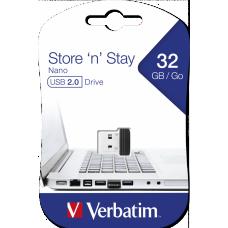 USB-Minne Verbatim Store 'n' Stay NANO 32GB USB 2.0