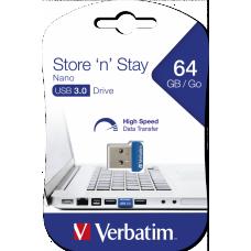 USB-Minne Verbatim Store 'n' Stay NANO 64GB USB 3.0